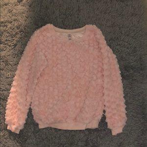xhilaration fuzzy pink sweater